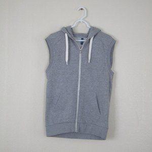 H&M Divided Gray Sleeveless Zip-up Hoodie, M